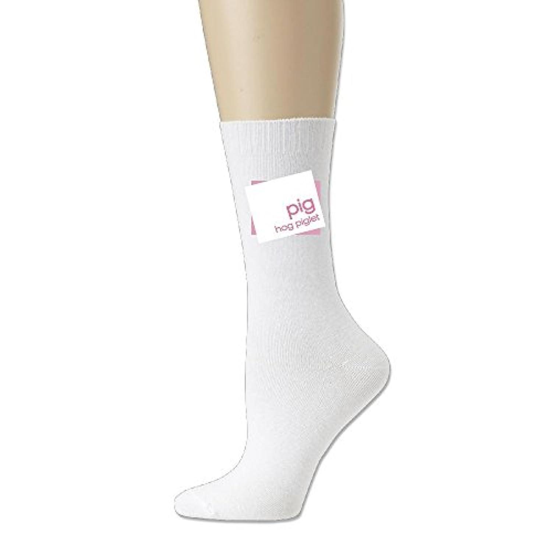 ソフト 靴下 アンクルソックス ブタ 子ブタ 豚 ピッグ プリント フットサポート付き ソックス くるぶし丈 実用的 立体成型 Ash