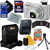 Canon PowerShot sx730HS 20.3MPデジタルカメラwith 40x光学ズーム、Wi - Fi、NFC、Bluetooth & HD 1080pビデオ(シルバー)インターナショナルバージョン+ 9個入り16GBアクセサリーキットW/HeroFiber Gentleクリーニングクロス