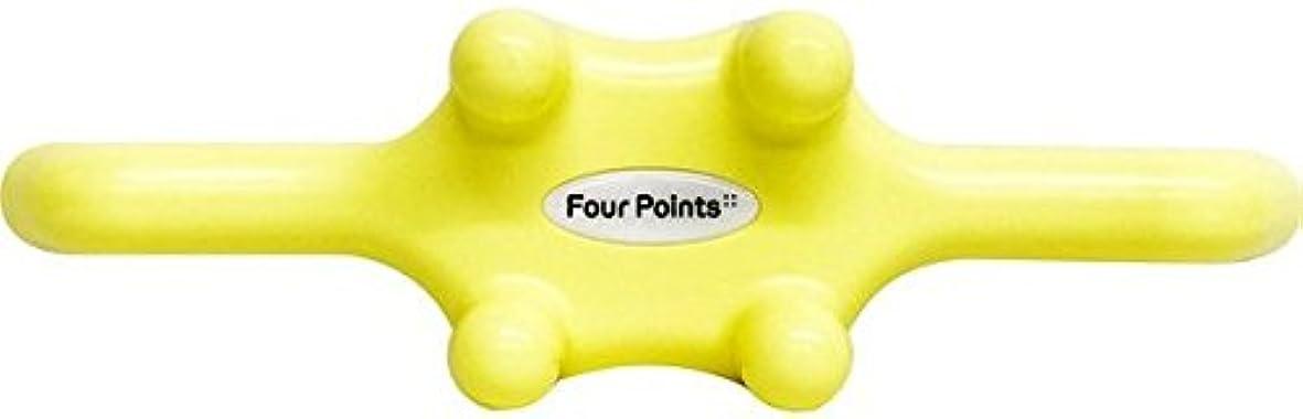職人泥だらけ先例フォーポインツ Four Points イエロー(全5色) 筋膜リリース 肩こり解消グッズ 腰痛改善グッズ 頭 首 背中 脚 ふくらはぎ 足裏 ツボ押し マッサージ グッズ