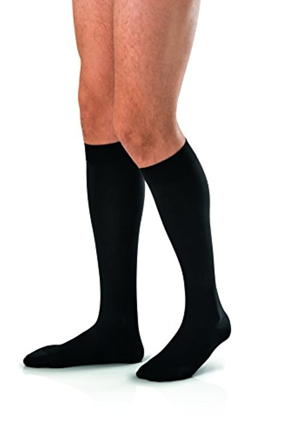 非常に怒っています安全でない重要なMen's 30-40 mmHg Closed Toe Knee High Support Sock Size: X-Large, Color: Black by Jobst [並行輸入品]