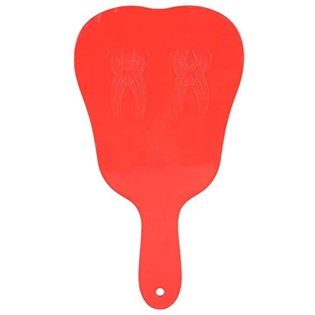 ソーシャル暴露馬鹿手鏡 おしゃれ 便利 歯柄 プラスチック製 コンパクト 持ち運ぶ便利 拡大機能(レッド)
