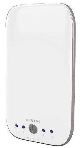 ドリテック 【くり返し使えるUSB式 & 温度を2段階で切換できる】 充電式カイロ 「エコウォーマープラス」 ホワイト HW-203WT