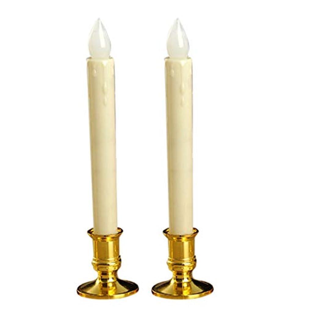 コンドームピーク華氏LEDキャンドル ティーライト ベース 燃えない 装飾 全4種選べる - ホワイト - ゴールデンベース