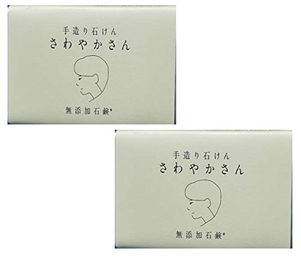 リファイン傑作開いたやさしい 手造り石鹸 「さわやかさん」90g 無添加 コールドプロセス製法 洗顔せっけん (2個セット)