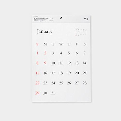 D-BROS 2017カレンダー TYPEFACE 壁掛けカレンダー