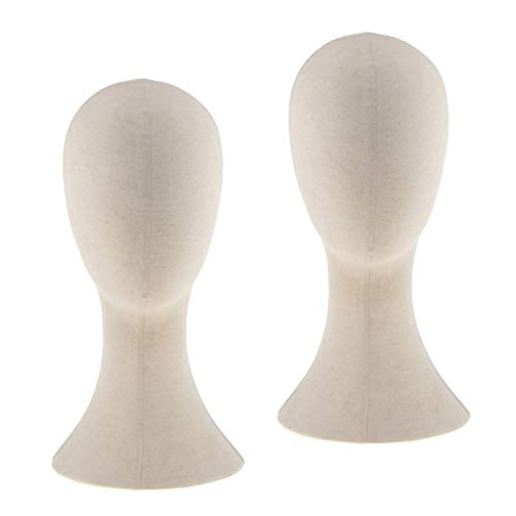 ヤング冷蔵するはげPerfeclan 2個入り マネキンヘッド トルソー 頭 カット練習 頭部 女性 ウィッグマネキン ウィッグスタンド