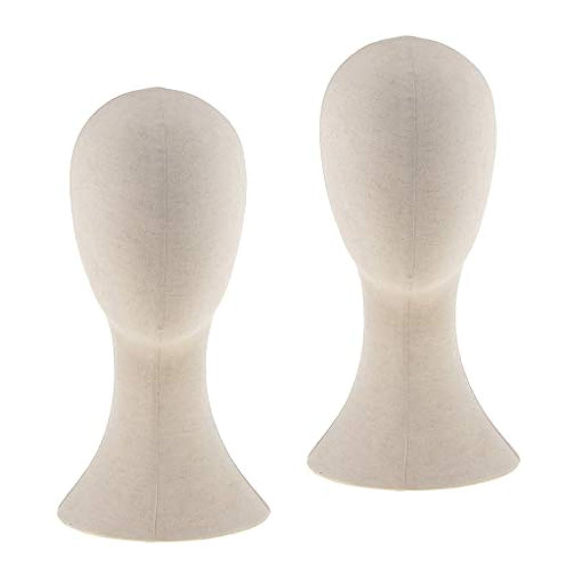 インタラクションペース召喚するDYNWAVE マネキンヘッド ウィッグスタンド練習 頭部 女性ウィッグマネキン ディスプレイ 帽子スタンド 2個入り