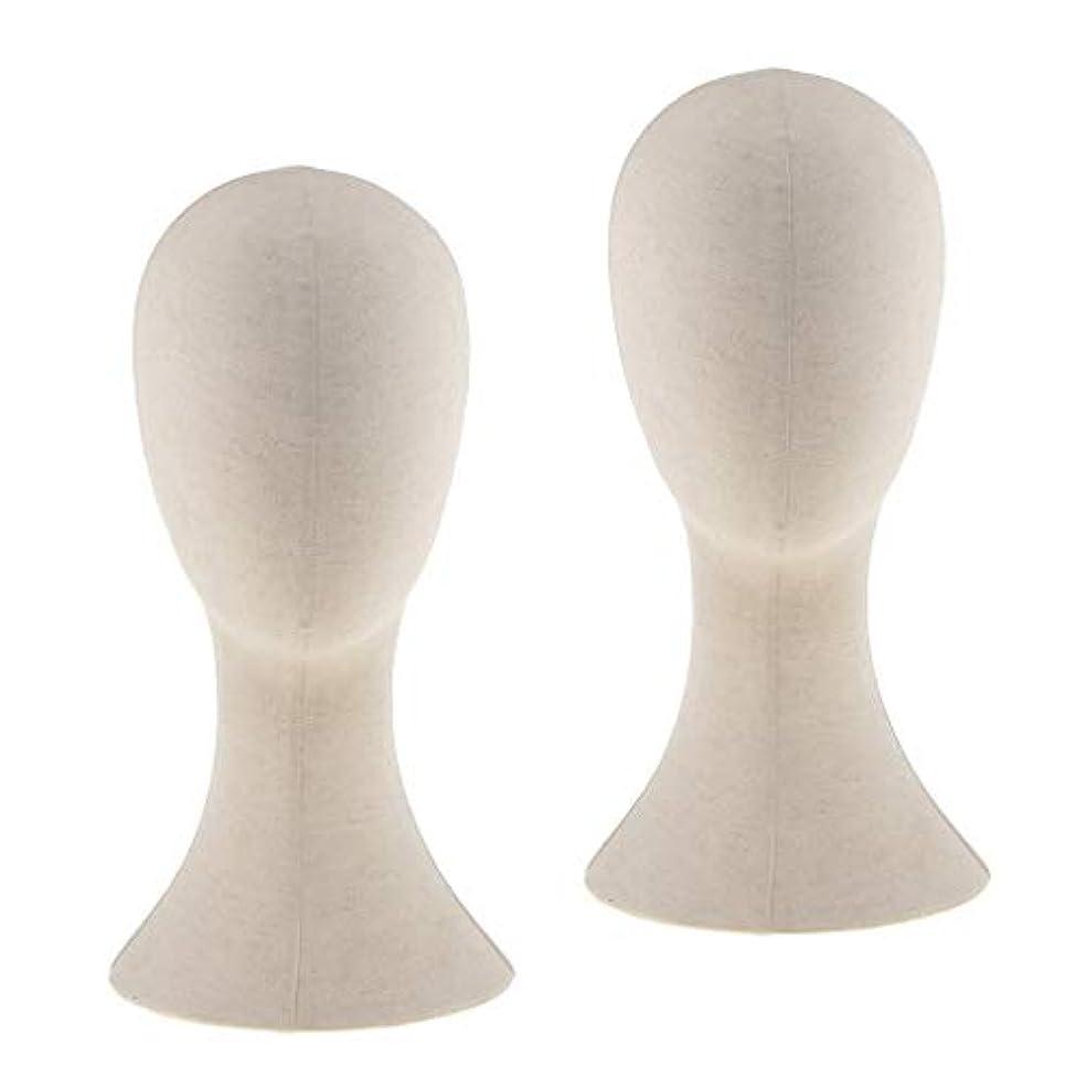 花に水をやる半球会話型DYNWAVE マネキンヘッド ウィッグスタンド練習 頭部 女性ウィッグマネキン ディスプレイ 帽子スタンド 2個入り