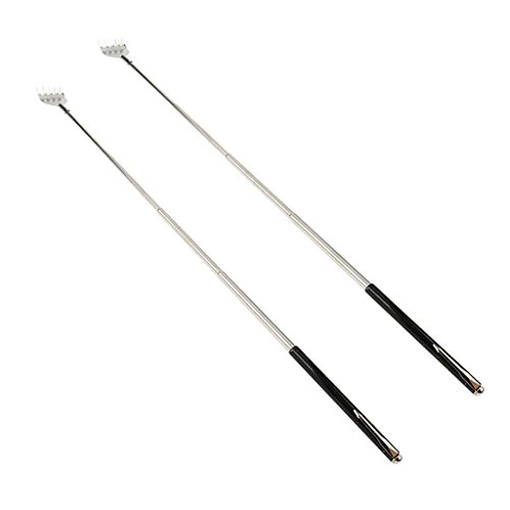によると虫橋脚dailymall 2ピースバックスクラッチャー伸縮式爪拡張可能なかゆみハンドマッサージペンフック付き