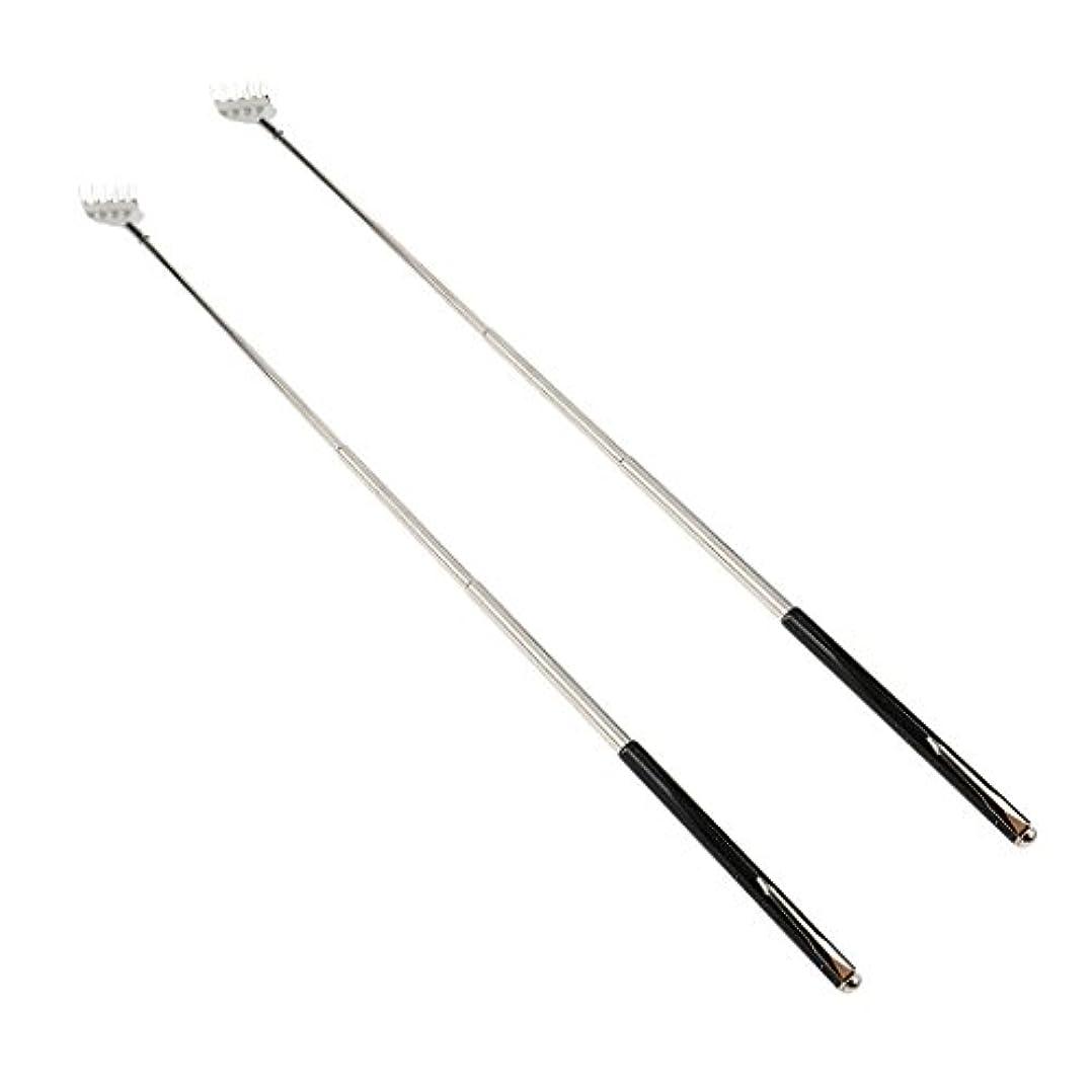 うめき研磨剤そこからdailymall 2ピースバックスクラッチャー伸縮式爪拡張可能なかゆみハンドマッサージペンフック付き