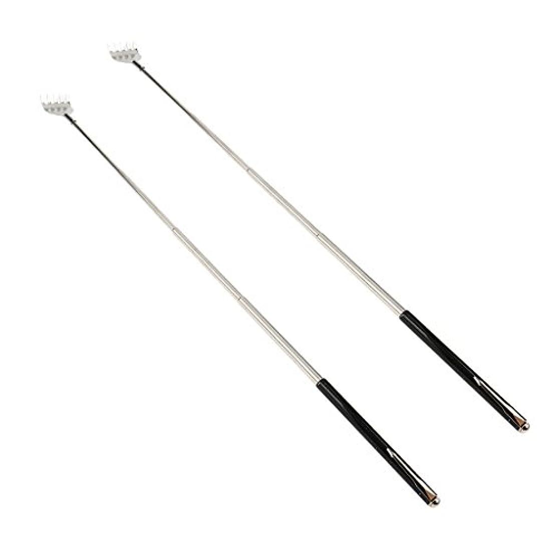 試みるチャレンジグリットdailymall 2ピースバックスクラッチャー伸縮式爪拡張可能なかゆみハンドマッサージペンフック付き