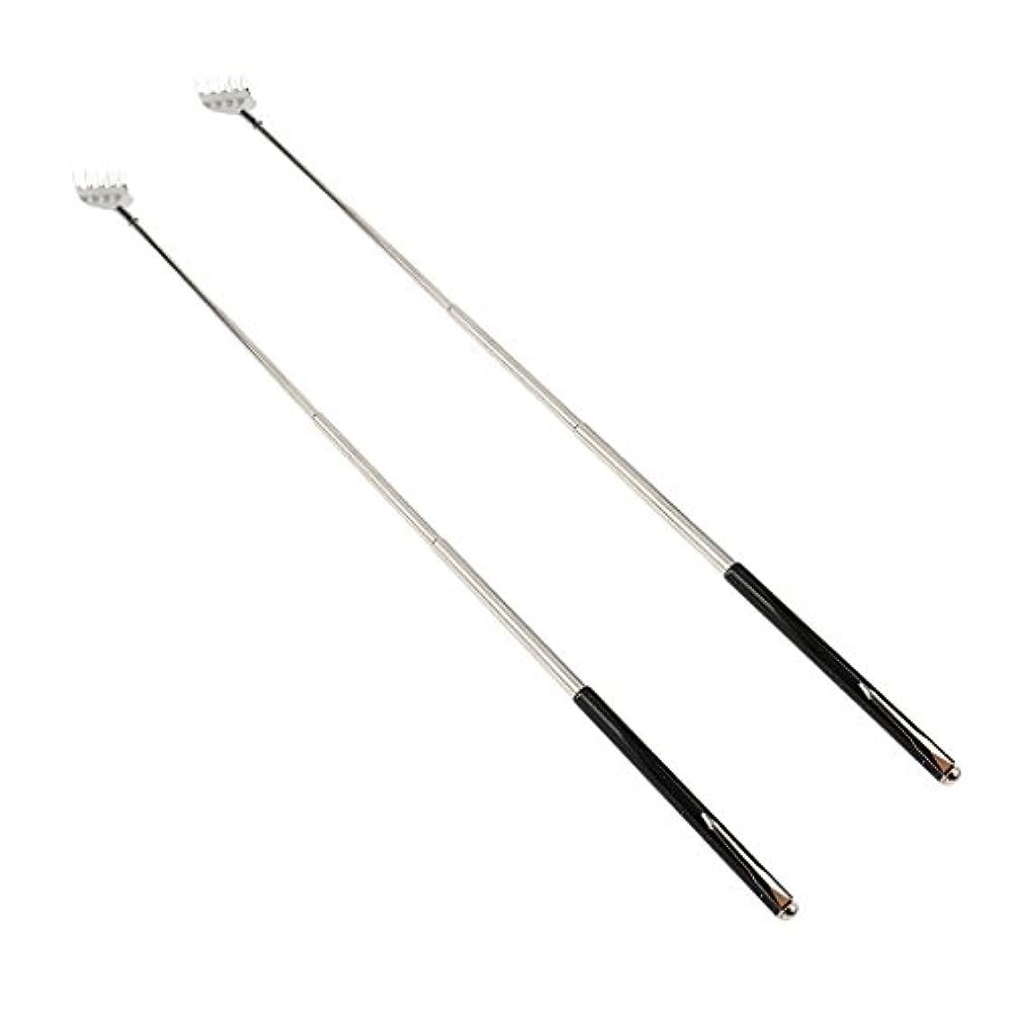 補うペダル意志に反するdailymall 2ピースバックスクラッチャー伸縮式爪拡張可能なかゆみハンドマッサージペンフック付き