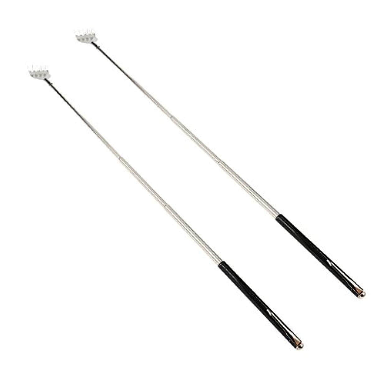 dailymall 2ピースバックスクラッチャー伸縮式爪拡張可能なかゆみハンドマッサージペンフック付き