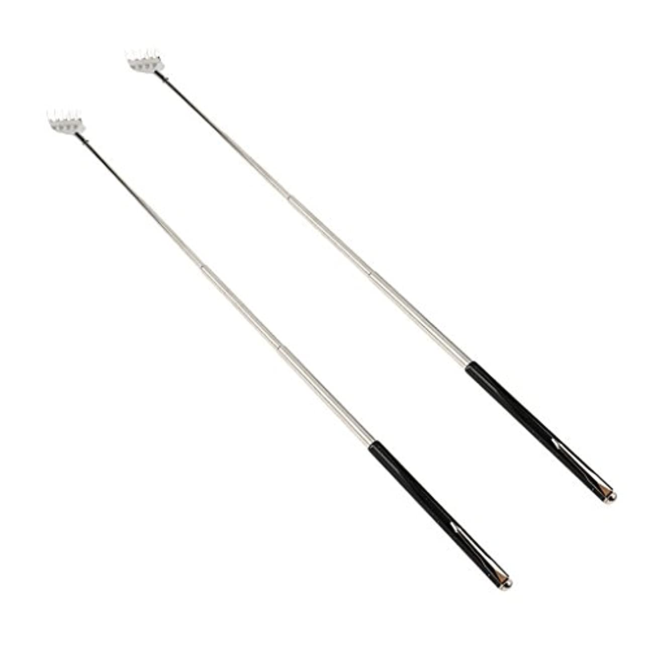 濃度シャッター光沢dailymall 2ピースバックスクラッチャー伸縮式爪拡張可能なかゆみハンドマッサージペンフック付き