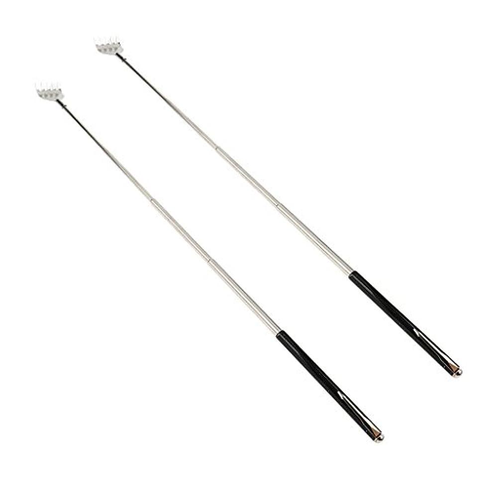 シネマクロール承認dailymall 2ピースバックスクラッチャー伸縮式爪拡張可能なかゆみハンドマッサージペンフック付き