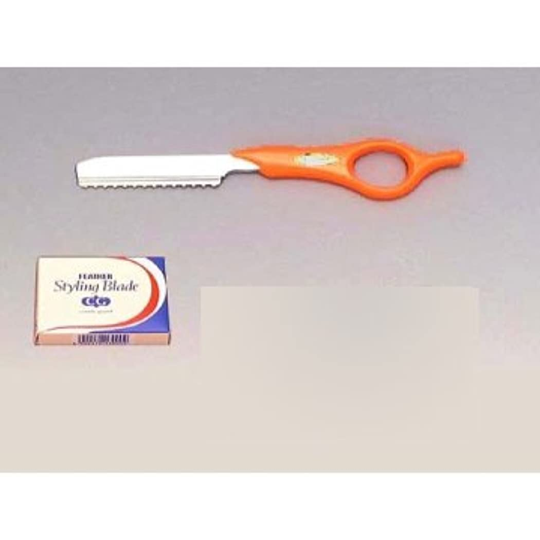 アナニバーエキゾチック棚フェザー スタイリングレザーS ショートタイプ SRS-R オレンジ