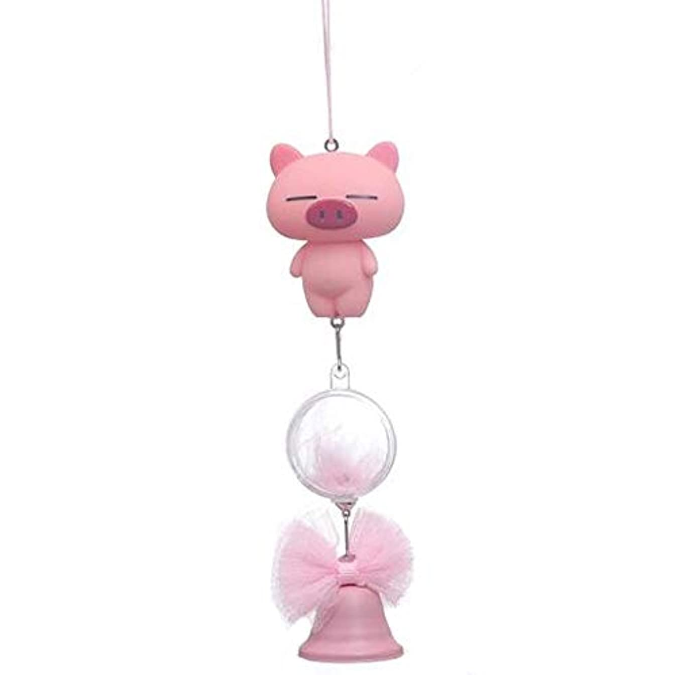 王子吸収剤処分したAishanghuayi 風チャイム、シリコーン素材クリエイティブ豚の風チャイム、パープル、全身について27cmの,ファッションオーナメント (Color : Pink)