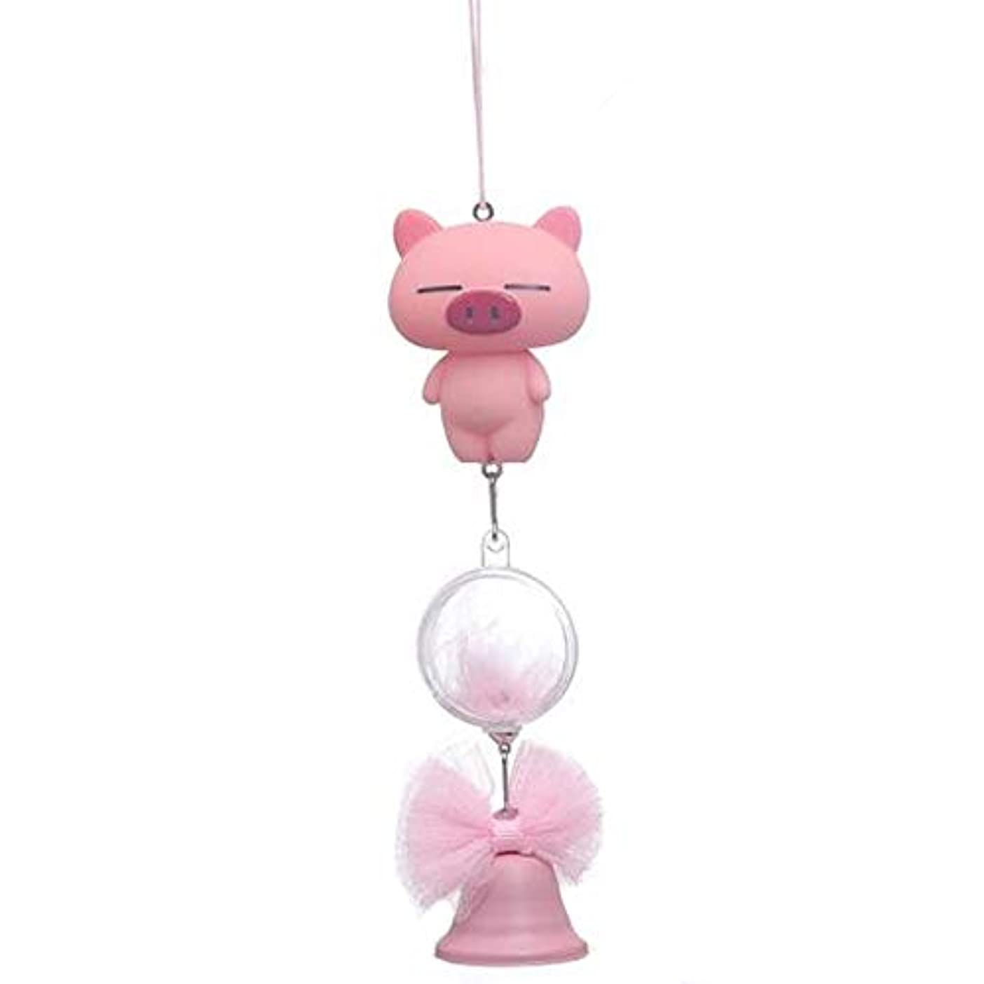 タブレット次Hongyuantongxun 風チャイム、シリコーン素材クリエイティブ豚の風チャイム、パープル、全身について27cmの,、装飾品ペンダント (Color : Pink)