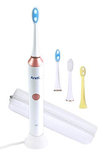 Areti アレティ 電動歯ブラシ プロフェッショナル ビューティーケア MIGAKI / ピンク 2段階速 音波 充電式 携帯 ケース付 t1731