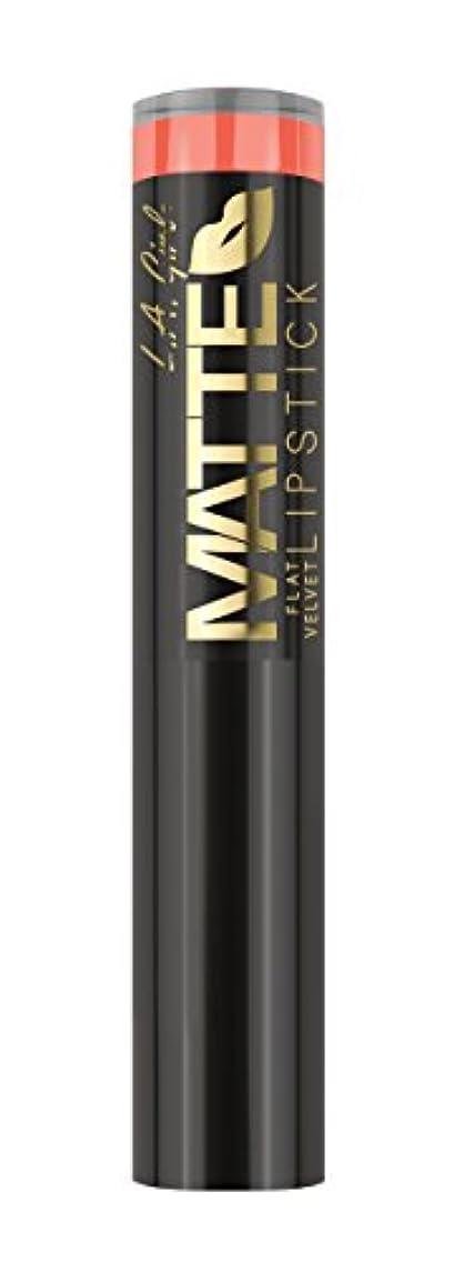 お茶野な呼び起こすL.A. GIRL Matte Flat Velvet Lipstick Sunset Chic (並行輸入品)