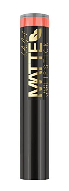 妖精フィールド鰐L.A. GIRL Matte Flat Velvet Lipstick Sunset Chic (並行輸入品)