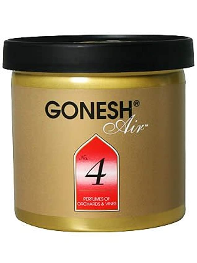 持っている勝者太字GONESH ゲルエアフレッシュナー No.4(オーチャード&ヴァイン)