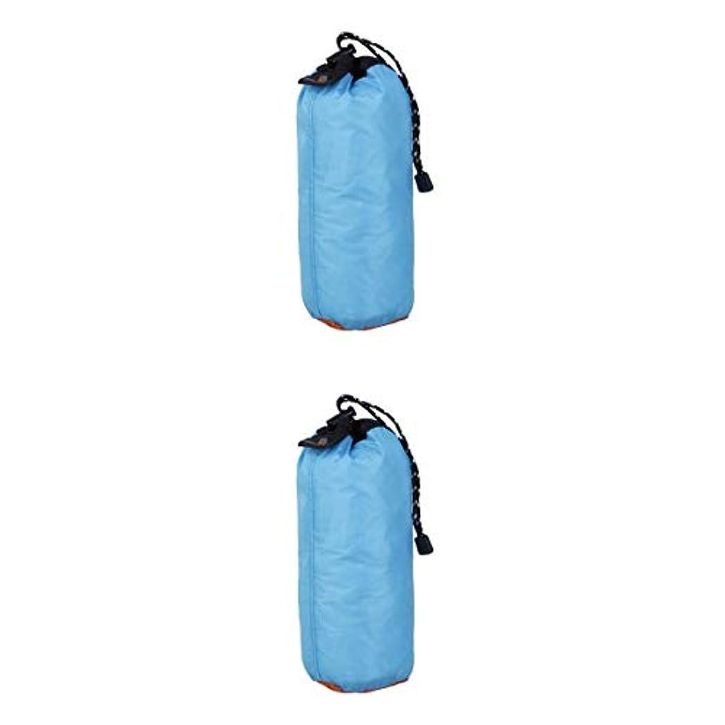 リスト知るカリキュラムFenteer 2個 超軽量 巾着袋 ポーチ ビーチ スイミング キャンプ 旅行 ポータブル 再利用可能