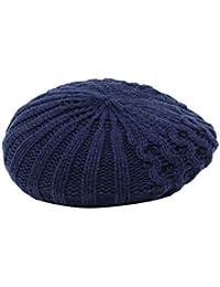 [アビト] ベレー帽 ニット帽 帽子 ケーブル編み メンズ