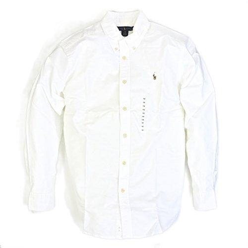 (폴로 랄프 로렌) POLO Ralph Lauren 보이의 옥스포드 버튼 다운 긴 소매 셔츠 무지 원 포인트 0103001 [병행수입품]-