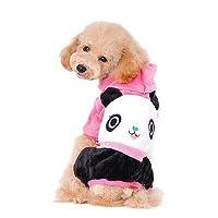 FidgetGear 犬猫コートジャケットペット用品服冬用アパレル服子犬セーター ホトピンク