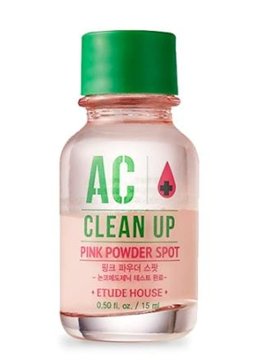優しさ拘束する難しいETUDE HOUSE AC Clean Up Pink Powder Spot 15ml エチュードハウスACクリーンアップピンクパウダースポット [並行輸入品]
