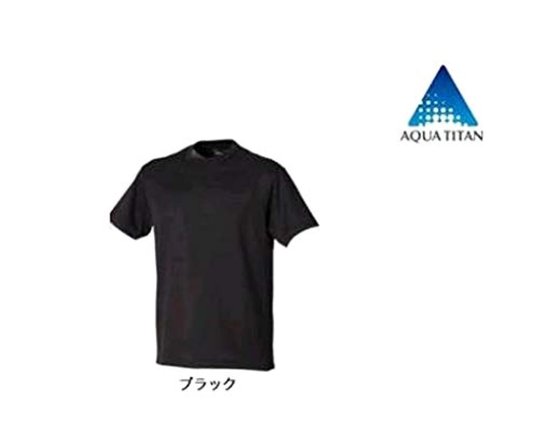 レイアウトうっかり路面電車ファイテン(phiten) RAKUシャツSTANDARD (吸汗速乾) 半袖 ブラック Sサイズ