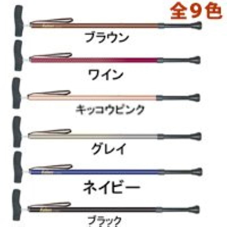 一次固める送金カイノス SOFT-GA 長さ調節式の杖 ウォーキングステッキ 杖◆ブラウン