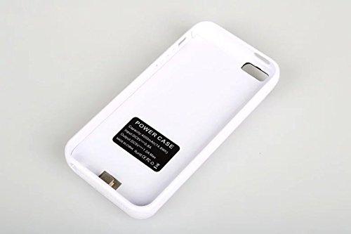 iPhone5 5S 対応 4000 mAh バッテリー iPhone5 5sバッテリー内蔵ケース充電ケース バッテリーケースPower Case (White)