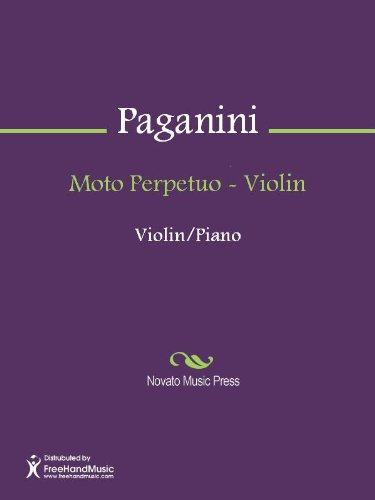 『Moto Perpetuo - Violin (English Edition)』のトップ画像