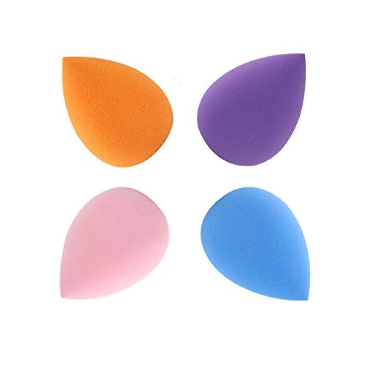 群れタイト再撮りSUPER DREAM メイクスポンジ 4個セット 立体 化粧 スポンジ 涙型 3Dスポンジ パフ フェイシャルスポンジ 親水性ポリウレタン メイクアップスポンジ 湿乾両用 ファンデーション 使い捨て 水洗い 何度も使える