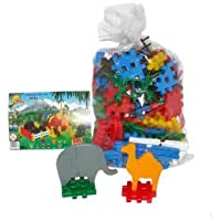 Wader Zoo Construction Set in a Bag (235 Pieces) by Polesie Wader [並行輸入品]