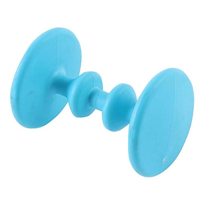 可能発行する裁定ローラータイプの足マッサージ足の鍼治療ポイントPlastic Massage-Blue2