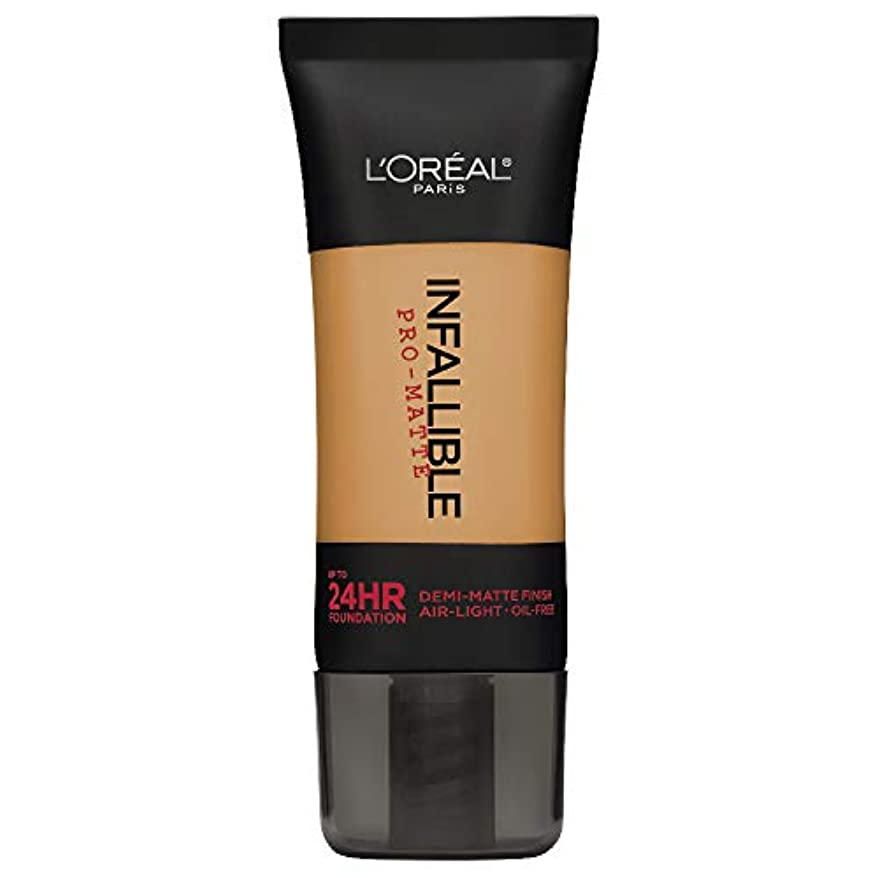 特定の事務所馬鹿L'Oreal Paris Infallible Pro-Matte Foundation Makeup, 110 Crème Café, 1 fl. oz[並行輸入品]