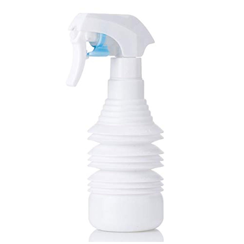 アンソロジーランデブースプーンヘアスタイリストヘアスプレー気化器用カーリーヘアスプレーボトルアトマイザー1100ml空スプレー用伸縮式超微細スプレーボトル-ブラック,白