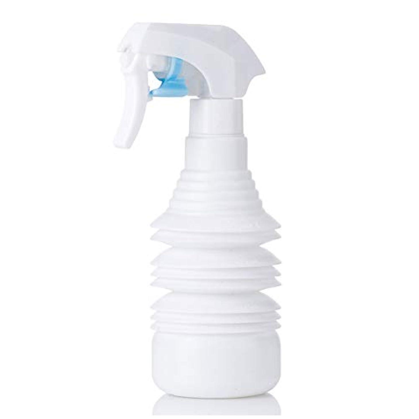 韓国語細部巨大ヘアスタイリストヘアスプレー気化器用カーリーヘアスプレーボトルアトマイザー1100ml空スプレー用伸縮式超微細スプレーボトル-ブラック,白