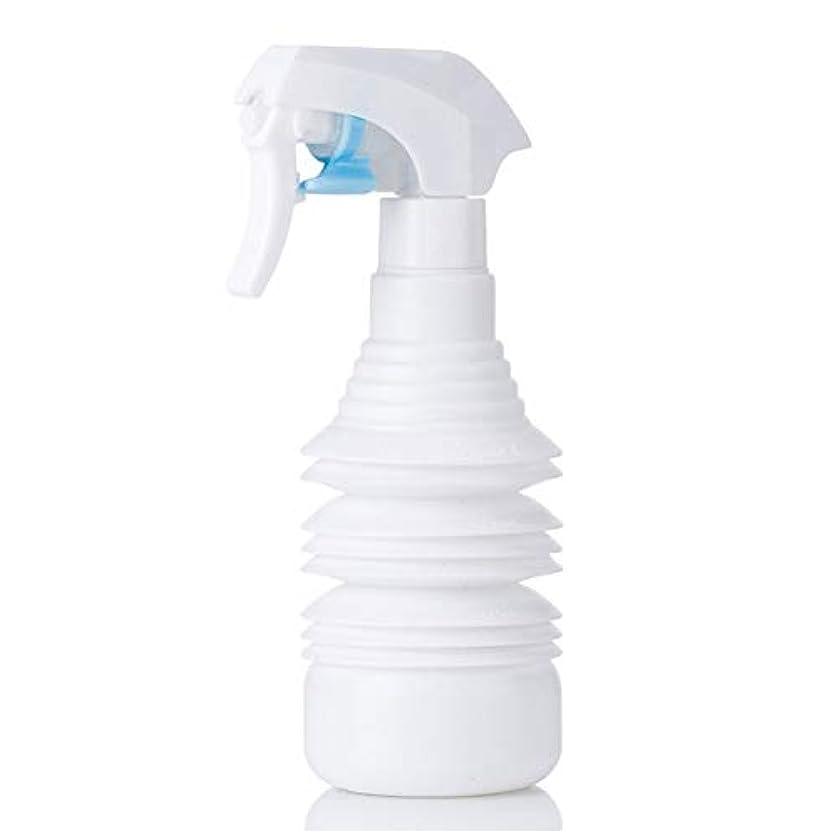 滴下人種ロゴヘアスタイリストヘアスプレー気化器用カーリーヘアスプレーボトルアトマイザー1100ml空スプレー用伸縮式超微細スプレーボトル-ブラック,白
