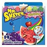 Mr。Sketch Washableマーカー、Chisel、アソートカラー、14ct。 1 Pack