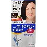 【ダリヤ】サロンドプロ 無香料ヘアカラー 早染めクリーム 7(深いダークブラウン) ×5個セット