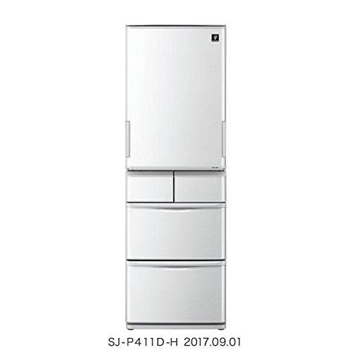 シャープ 412L 5ドア冷蔵庫(グレー系)SHARP プラズマクラスター冷蔵庫 どっちもドア SJ-P411D-H
