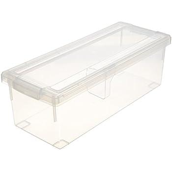 天馬 ディスク収納ボックス 幅17.5×奥行45×高さ15cm CDいれと庫 クリア