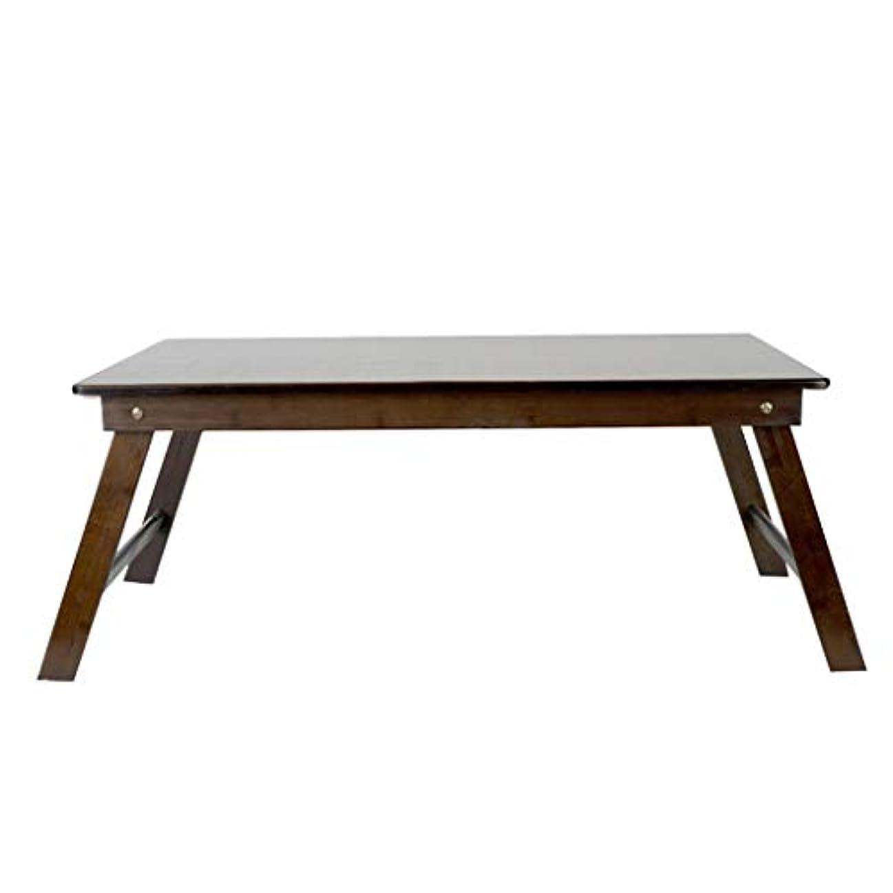 ピアノを弾く休憩する腐食するWangYi 折りたたみ式テーブル- 竹多機能折りたたみテーブル、家庭の学生机、ラップトップテーブル (色 : Brown, サイズ さいず : 80x60x34cm)