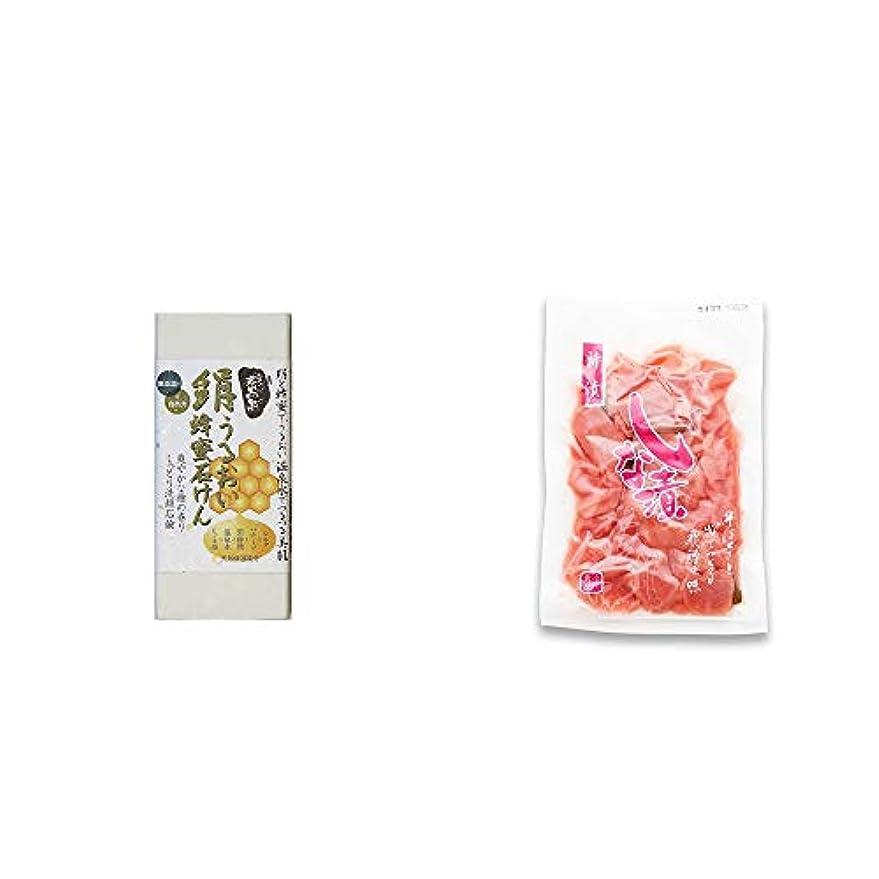 柔らかい広くアーサー[2点セット] ひのき炭黒泉 絹うるおい蜂蜜石けん(75g×2)?しな漬け(160g)