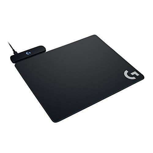 Logicool ロジクール ゲーミング マウスパッド  G-PMP-001 ブラック POWERPLAYワイヤレス充電 クロスとハー...