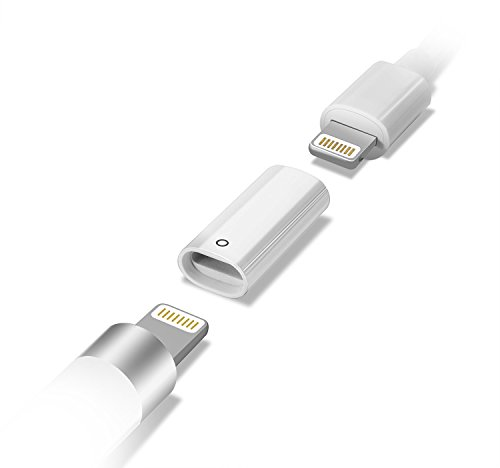 LANMU 充電アダプタFor Apple pencil ライトニングUSBケーブル用変換アダプタ アップル ペンシル 専用